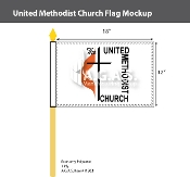 Methodist Stick Flags 12x18 inch