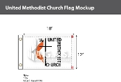 Methodist Flags 12x18 inch