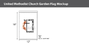 Methodist Garden Flags 18x12 inch