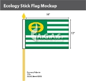 Ecology Stick Flags 12x18 inch