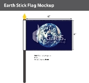 Earth Stick Flags 4x6 inch