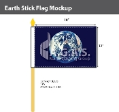 Earth Stick Flags 12x18 inch
