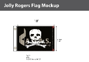 Jolly Roger Flags 12x18 inch