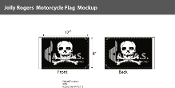 Jolly Roger Motorcycle Flags 6x9 inch