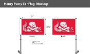 Henry Every Car Flags 10.5x15 inch Premium