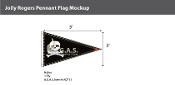 Jolly Roger Pennant Flags 3x5 foot