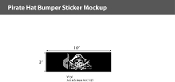 Pirate Hat Window Decals 3x10 inch