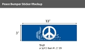 Peace Window Decals 3x10 inch