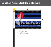 "Leather Pride Stick Flag 4""X6"""
