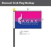 "Bisexual Stick Flag 4""X6"""