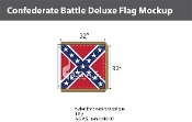 Confederate Battle Deluxe Flags 32x32 inch