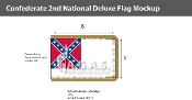 Confederate 2nd National Deluxe Flags 5x8 foot