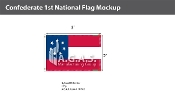 Confederate 1st National Flags 2x3 foot