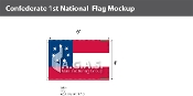 Confederate 1st National Flags 4x6 foot