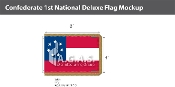 Confederate 1st National Deluxe Flags 4x6 foot