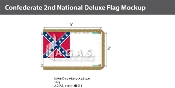 Confederate 3rd National Deluxe Flags 3x5 foot