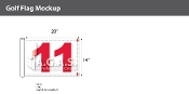 11th Hole Golf Flags 14x20 inch (White & Red)