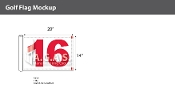 16th Hole Golf Flags 14x20 inch (White & Red)