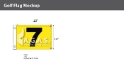7th Hole Golf Flags 14x20 inch (Yellow & Black)