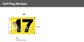 17th Hole Golf Flags 14x20 inch (Yellow & Black)