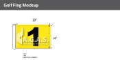 1st Hole Golf Flags 14x20 inch (Yellow & Black)