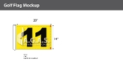 11th Hole Golf Flags 14x20 inch (Yellow & Black)