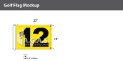 12th Hole Golf Flags 14x20 inch (Yellow & Black)
