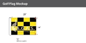 Golf Course Directional Flags 14x18 (Yellow & Black Checkered)