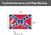 Confederate Navy Jack Flags 12x18 inch