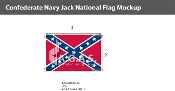 Confederate Navy Jack Flags 2x3 foot