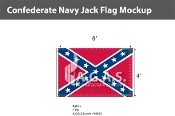 Confederate Navy Jack Flags 4x6 foot