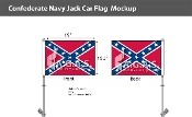 Confederate Navy Jack Car Flags 10.5x15 inch Premium