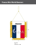 France Mini Banners 4.75x3.5 inch