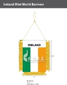 Ireland Mini Banners 4.75x3.5 inch