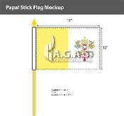Papal Stick Flags 12x18 inch