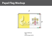 Papal Flags 2x3 foot