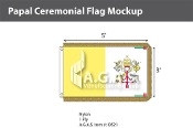 Papal Ceremonial Flags 3x5 foot