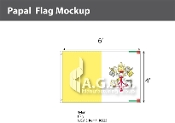Papal Flags 4x6 foot