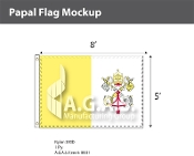 Papal Flags 5x8 foot