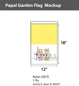 Papal Garden Flags 18x12 inch