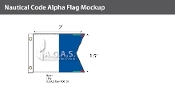Alpha Deluxe Flags 1.5x2 foot