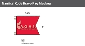 Bravo Deluxe Flags 1x1.25 foot