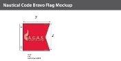 Bravo Deluxe Flags 2x2 foot