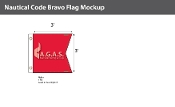 Bravo Deluxe Flags 3x3 foot