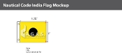 India Deluxe Flags 1x1.25 foot