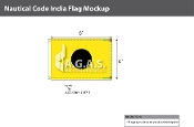 India Deluxe Flags 4x6 foot