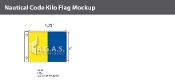 Kilo Deluxe Flags 1x1.25 foot