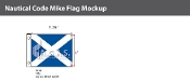 Mike Deluxe Flags 1x1.25 foot