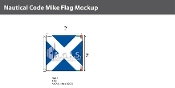 Mike Deluxe Flags 2x2 foot