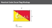 Oscar Deluxe Flags 4x6 foot
